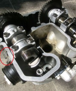 Kawasak-KLR600-Zylinder-Kopf-Nockenwellen