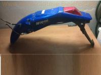 Polisport Nummerntafelträger m. Rücklicht Schutzblech hinten Blau cover Yamaha WR 125, WR 250, WR 400, WR 426