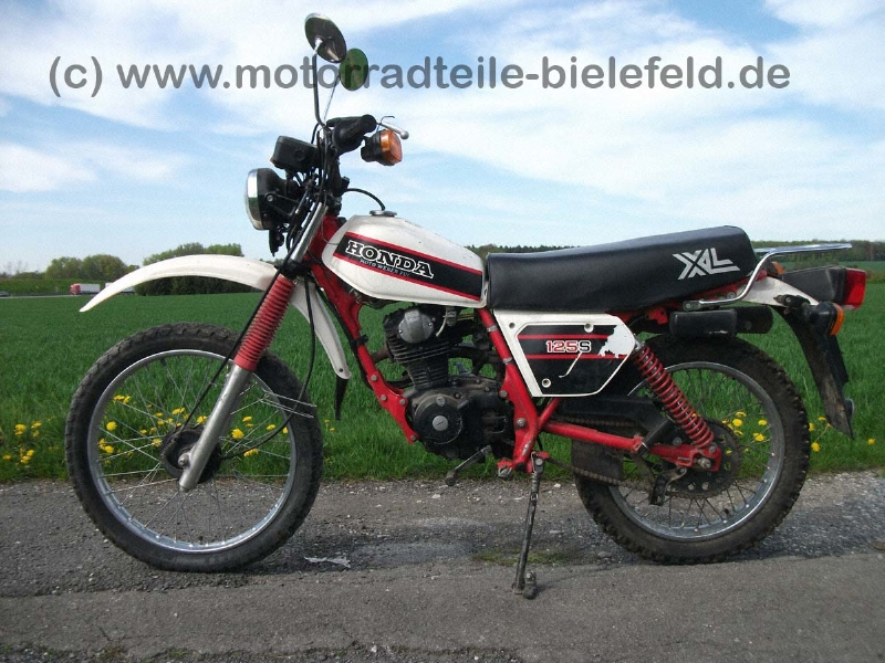 Honda XL125S weiß L125S original | motorradteile-bielefeld.de