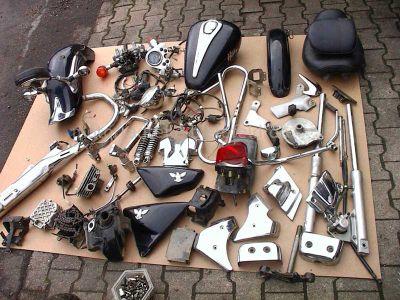 sym husky 125 schwarz chopper motorradteile. Black Bedroom Furniture Sets. Home Design Ideas