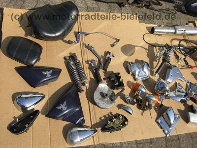 sym husky 125 schwarz chopper blau motorradteile. Black Bedroom Furniture Sets. Home Design Ideas