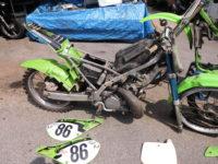 Kawasaki KX 250 Motor Rahmen UPside Down Vergaser